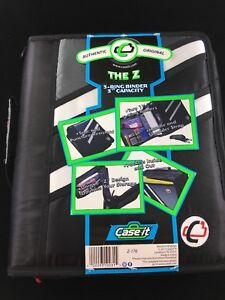 Case it Z binder Two in one 1 5 inch D ring Zipper Binders Z 176