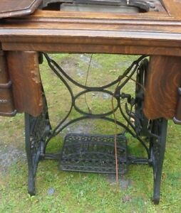 Antique New Home Sewing Machine Cast Iron Treadle Base Only Cast Iron Base