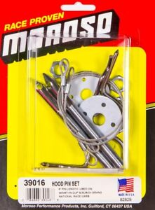 Moroso 39016 Hood Pin Kit For Race Cars From Steel With Scuff Plates 3 8x4