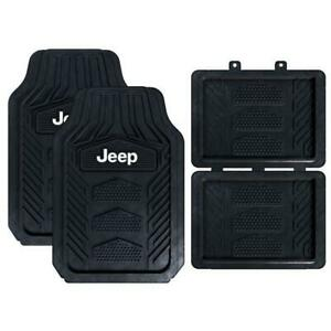 Jeep All Weather Pro Heavy Duty Rubber Floor Mats 4pc Set New