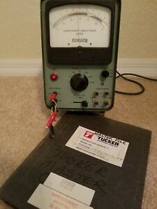 Vintage Boonton 71a Capacitance Inductance Lc Meter Vacuum Tube Works