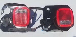 Universal Truck Tail Lights Dot 9130 With 7 Pin Trailer Hookup Pair Takeoff