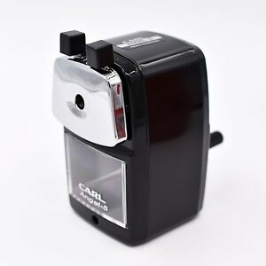 Classic Manual Pencil Sharpener Black Heavy Duty But Quiet For Office A New