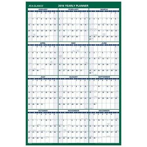 At a glance Vertical Wall Calendar 24 X 36 Reversible For Notes And P New