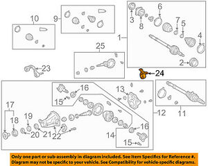 Toyota Oem 96 00 Rav4 Axle Differential Rear Support 5238042082