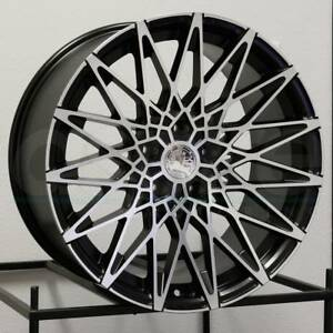 19x8 5 Aodhan Ls001 Ls1 5x120 15 Matte Black Machined Wheels New Set 4