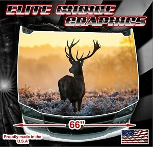 Deer Sunset Hunting Camo Vinyl Hood Wrap Bonnet Decal Sticker Graphic
