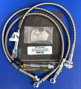 Russell 672340 Stainless Brake Hose Line Kit 1989 98 Chevy Gmc C1500 C2500 2wd