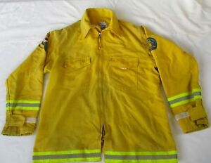 Firefighter Wildland brush Fire Jacket W reflector Stripes Size Xlarge