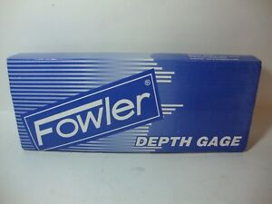 Fowler 54 125 777 0 0 22 X depth Electronic Depth Gage W 4 Base Nib