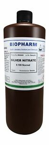 Silver Nitrate 0 100 Normal Standard Solution Quart 950 Ml New