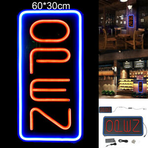 Vertical Neon Open Sign Light Open Sign Restaurant Commercial Bar Bright 30x60cm