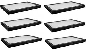 6 Pack Riker Style Display Case Box 8x12x 75 Shadow Collection Foam Jewelry New