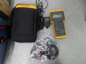 Fluke Networks 635a Quickbert T1 Cable Tester W Power Adapter Excellent