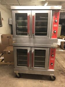 Vulcan Vc4gd 10 Double Stack Convection Oven Natural Gas Casters