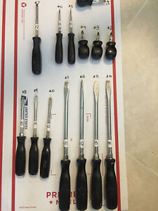 Pick Ur Snap On Tool Screwdriver Flat Phillips Stubby Black Driver Hard Handle
