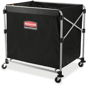 Rubbermaid Collapsible Steel X cart Basket Truck Large Load 8 Bushel New