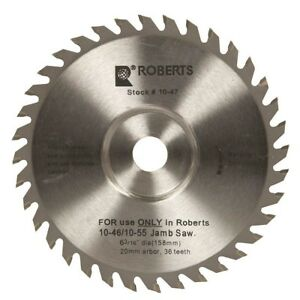 6 3 16 36 tooth Carbide Tip Saw Blade Replacement For 10 55 Jamb Undercut Saw