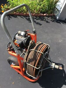 Used Easy Rooter General Wire 100ft X 5 8 Electric Drain Snake Cleaner