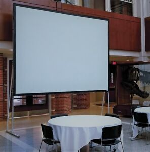 Draper Ultimate Folding Portable Rear Projection Screen 8x8 With Legs frame case