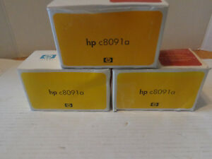 Lot Of 3 New Genuine Hp C8091a Staple Cartridge s 5000 Staples Oem