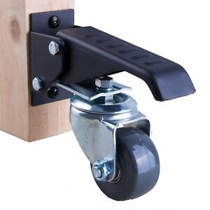 Workbench Caster Kit 4 Extra Heavy Duty Retractable Casters 800 Lbs Weight
