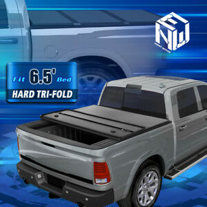 For 04 14 Ford F150 Truck 6 5ft Bed Aluminum Hard Solid Tri Fold Tonneau Cover