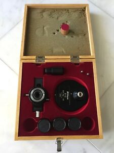 Nikon Optiphot Nomarski Dic Box Kit With Analyzer Condenser And 3 Objectives