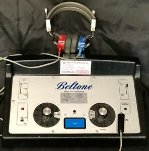 Beltone 109 Audiometer Hearing Tested Working Headphones Thumb Button Cover