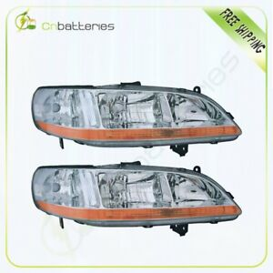 33151 s84 a02 33101 s84 a02 Pair Headlamps Lamp For 2001 2002 Honda Accord