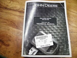 John Deere Gator Utility 4 X 2 4x6 Technical Manual Tm1518 May 2005
