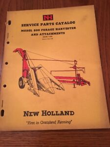 1959 New Holland Service Parts Catalog Model 800 Forage Harvester Tractor Farm
