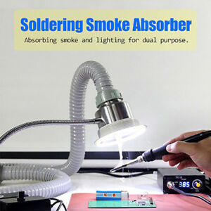 Soldering Smoke Absorber Remover Fume Extractor Air Fan Adjustable Speed W Led