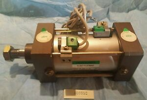 Ckd Sca2 fc63b60 Pneumatic Cylinder 63mm Bore 60mm Stroke W 2 Switches Ckd R2