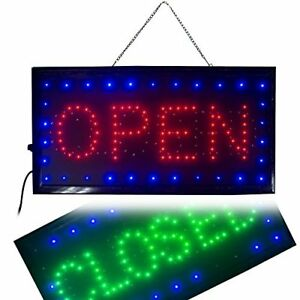 Ovovo Ultra Bright Led 2 In 1 Open Closed Sign Business Signs For Drink Food
