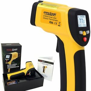 Ennologic Temperature Gun Dual Laser Non contact Infrared Thermometer 58 f To