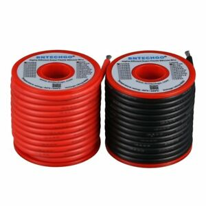 Bntechgo 12 Gauge Silicone Wire Spool 50 Feet Ultra Flexible High Temp 200 Deg C
