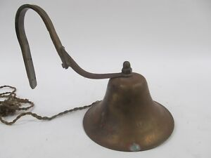Vintage 8 Diameter Brass Nautical Ships Bell