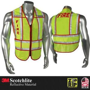 Radians Breakaway Safety Vest Ems police fire sheriff Split 3m Reflective Tape