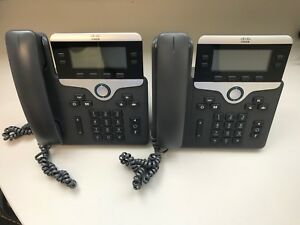 Lot Of 2 Cisco Phones Cp 7841 Cp 7841 k9