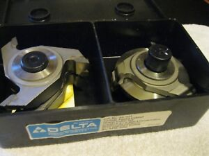 Delta rockwell Carbide Shaper Cutter Set 43 021 Full Set Of Bits Nos