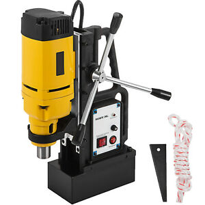 1350w Magnetic Drill Press 1 Boring 3372 Lbs Magnet Force Tapping