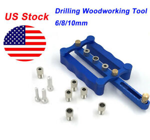 Woodworking Self Centering Dowelling Jig For Metric Dowels 6 8 10mm Drilling Kit