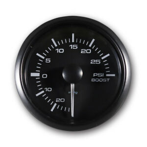 Electronic Boost Gauge 2 Psi Dual Led Backlit White Amber Waterproof Pin style