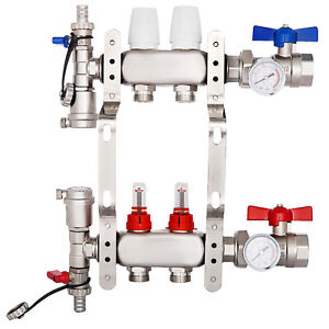 2 Loop branch 1 2 Pex Manifold Stainless Steel Radiant Floor Heating Set kit Us
