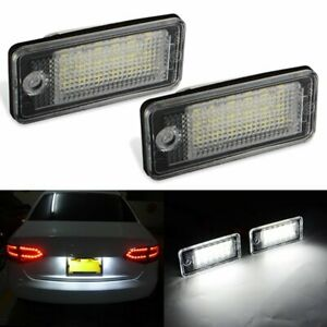 2pcs 18 Led Error Free License Plate Light Lamp For Audi A3 A4 S4 B6 B7 A6 A8 Q7