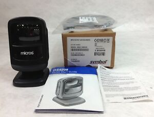 Micros symbol Ds9208 sr00114nnww Barcode Scanner With Usb Cable