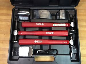 Matco Body Fender 7 Piece Tool Set Hammer Dolly Auto Body Collision Repair