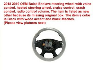 2018 2019 Buick Enclave Steering Wheel Black With Wood Accent 84277361