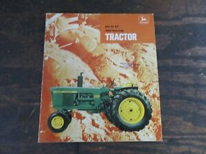 Original 1969 John Deere 4000 Tractor Advertising Brochure 4020 3020 4320 2520